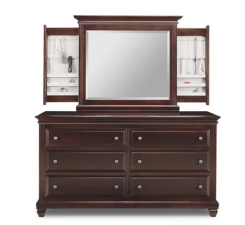 Florentino Dresser /w Jewellery Mirror