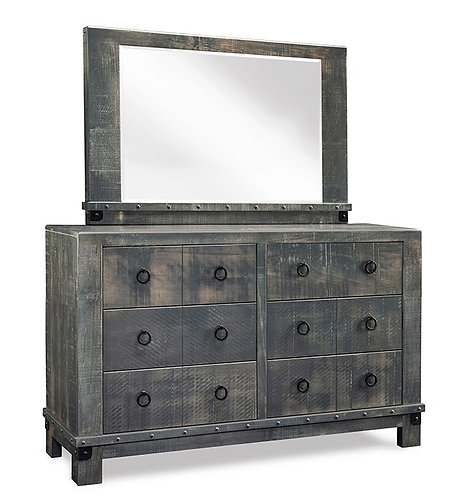 Barrelworks 6 Drawer Dresser /w Mirror