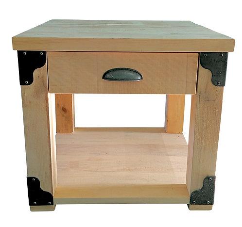 Iron Corner End Table