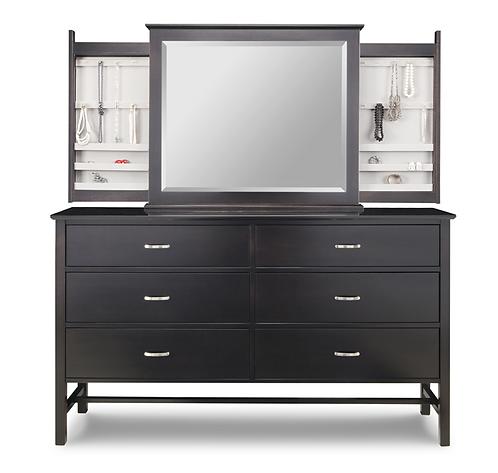 Brooklyn Dresser /w Jewellery Mirror