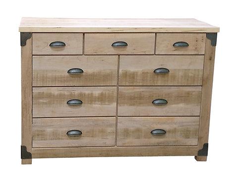 Iron Corner 9 Drawer Dresser