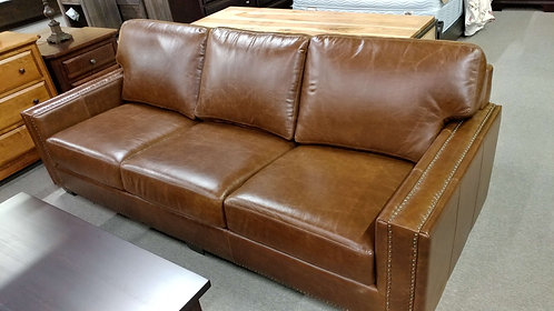 Caledon Leather Sofa & 1+1/2 Chair