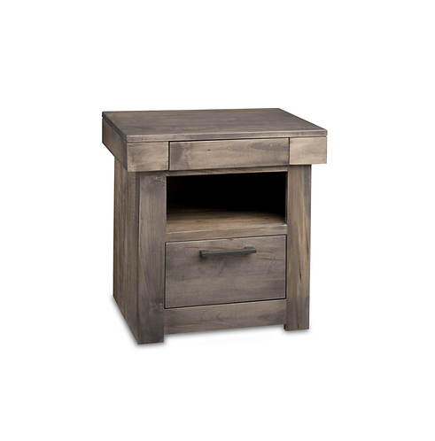Baxter 2 Drawer Open Night Stand