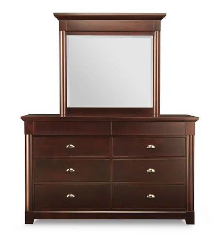 Hudson Valley 8 Drawer Dresser /w Mirror