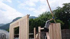 九州・福岡の組み立て簡単のログハウス