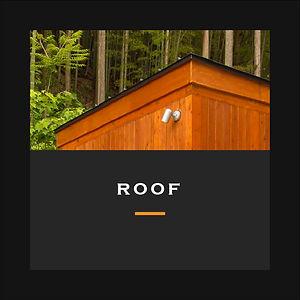 ミニログハウスの屋根