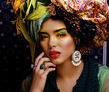 Model with Cuban Look