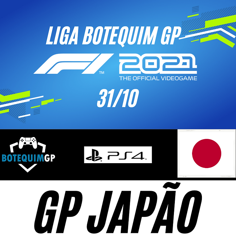 GP JAPÃO - LIGA BOTEQUIM GP F1 2021