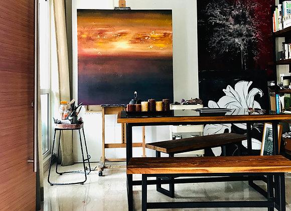 Towards the sun / oil on canvas