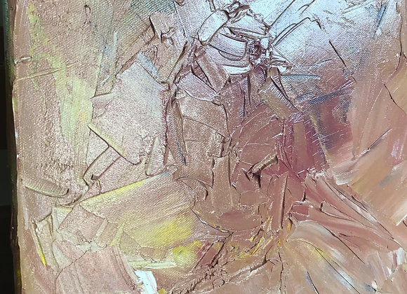 Oil palette knife / impasto 10 inches x 10 inches