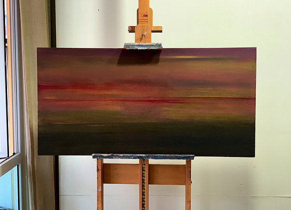 Rays of Gold / oil and beeswax ( 24 inches x 48 inches )