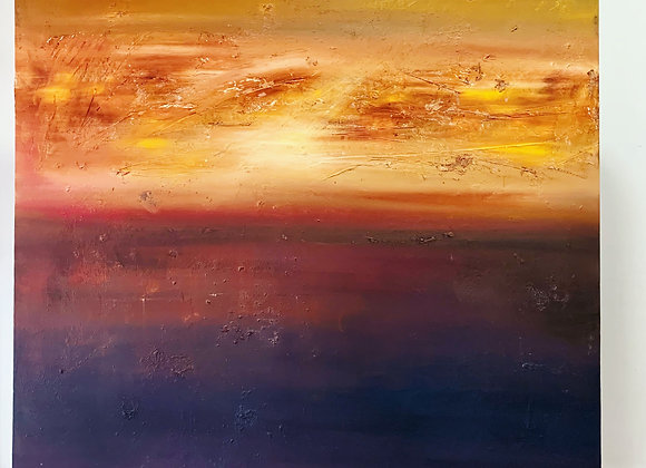 Dawn / oil & beeswax on canvas / 48 inches x 48 inches