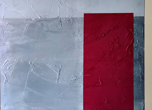Red window (oil on canvas / 1M x 1M)