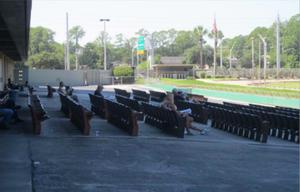 Empty Stands, Greyhound Race, Orange Park, 2014