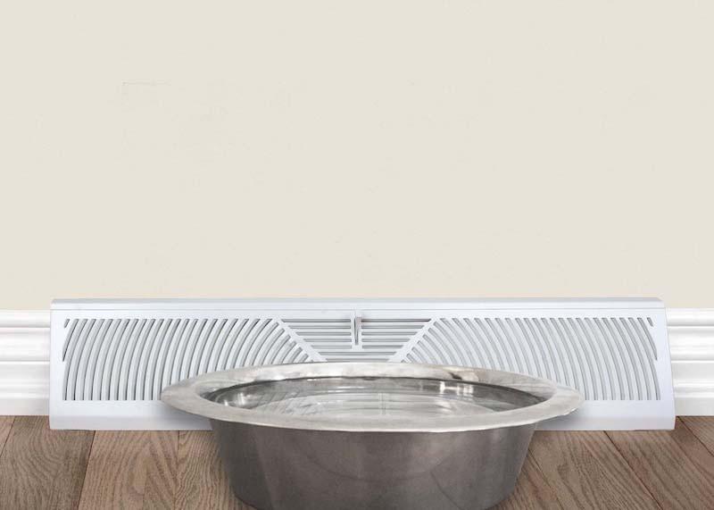 Straight Twist, Metal Bowl, Water, Heat Register, Vent, Humidity