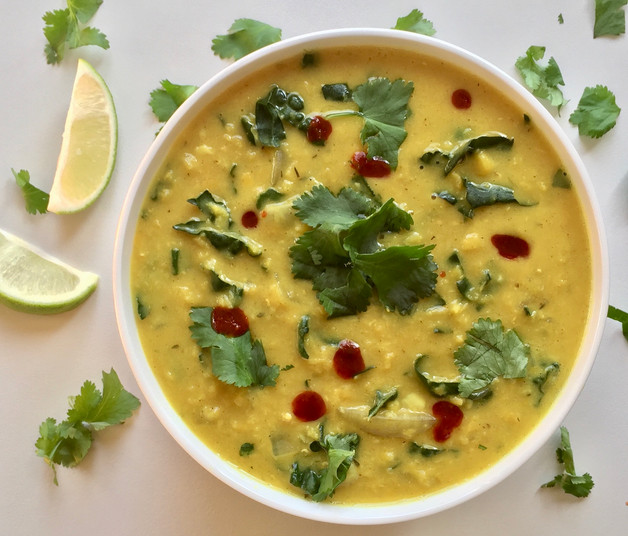 Spiced Red Lentil Slow Cooker Soup