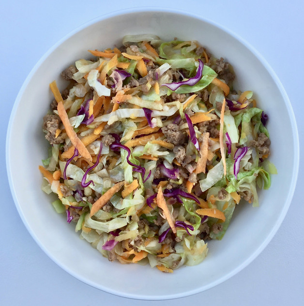 Pork Apple Cabbage Bowl Recipe