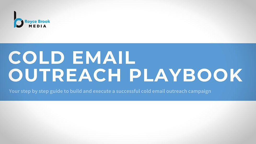 Cold Email Outreach Playbook