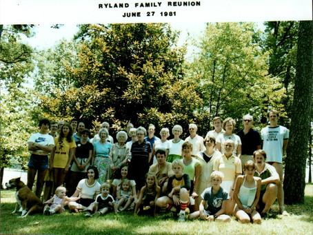Ryland Family Reunion 1981