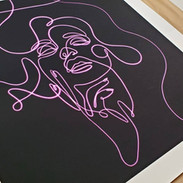 """Neon Dream  Digital Sketch - Giclee Prints Available 24 x 24"""" - $75 ea"""