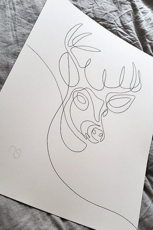 Stag - Original Drawing