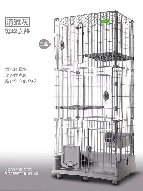 3-Tier Cat Cage Playpen Box Crate Kennel