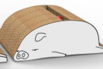 piggy shaped scracher (S)
