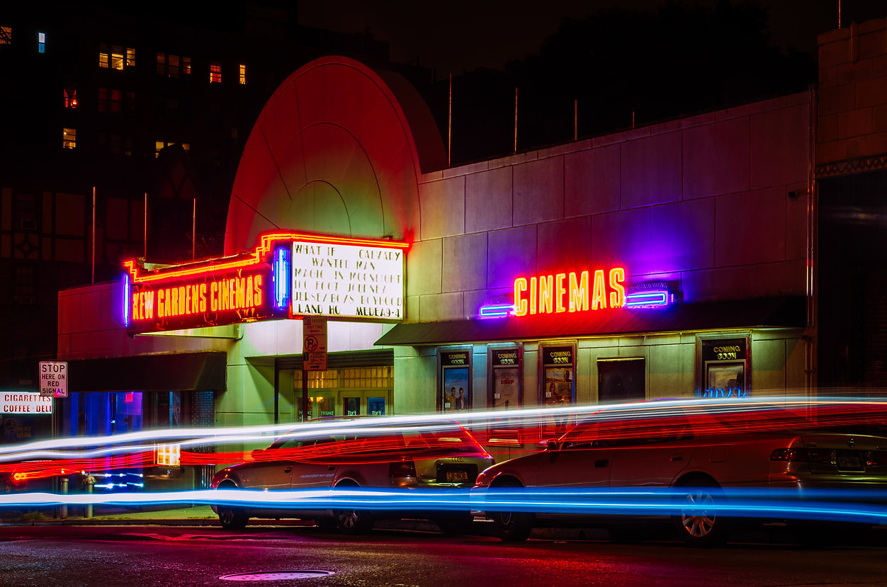old cinema and neon