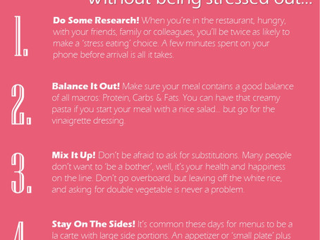 Top 5 ways to eat out without being stressed out