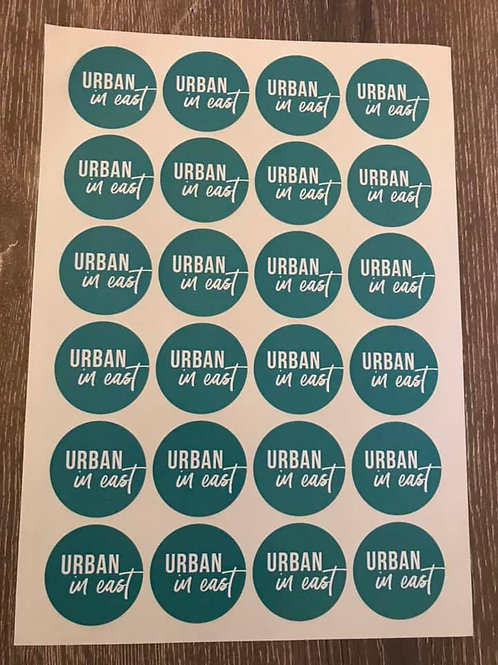 44mm Paper gloss circle labels