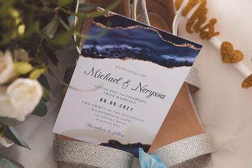 Main wedding invitation