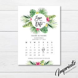 Tropical save the dates_