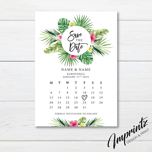 Save the date cards A6