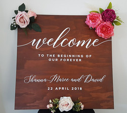wedding sign example