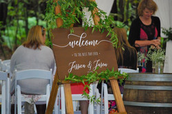 wooden wedding sign example
