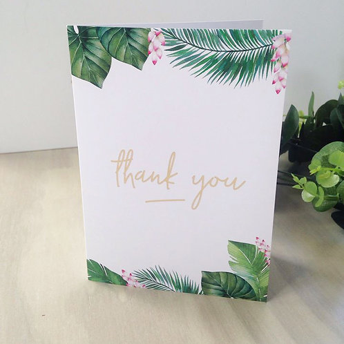 A5 folded A6 Thank you Cards