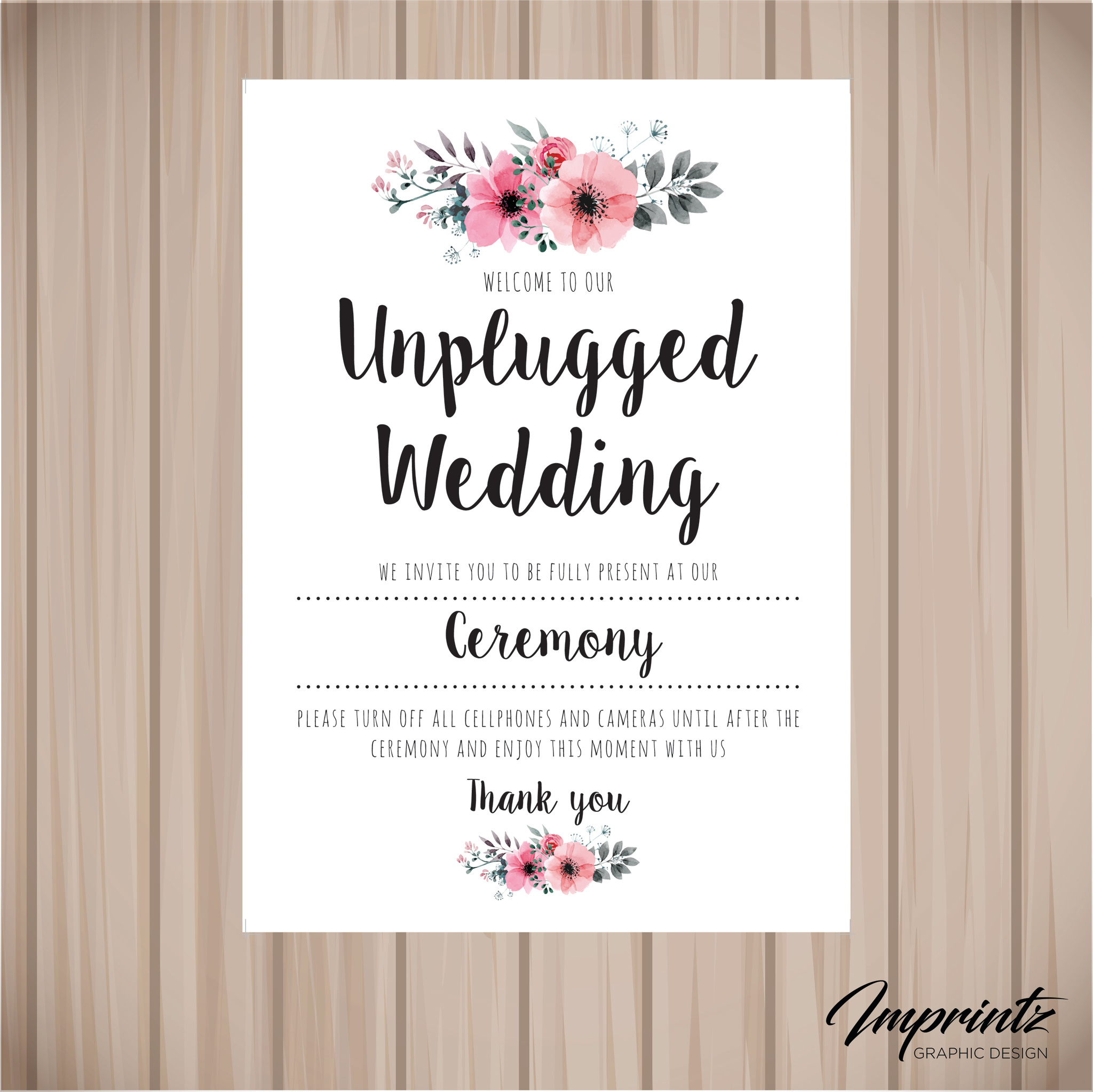 Unplugged wedding