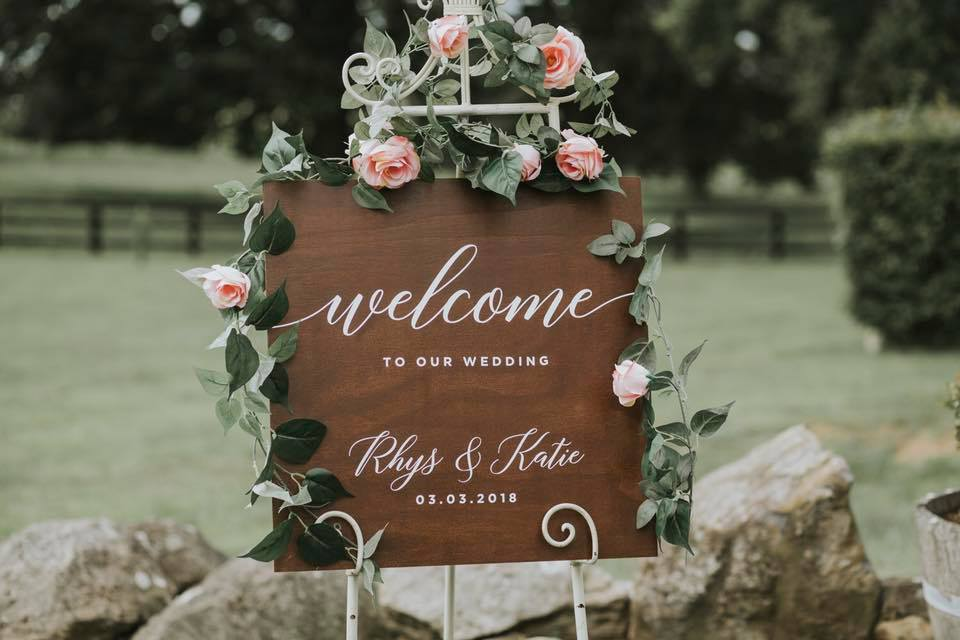 wedding sign example 2