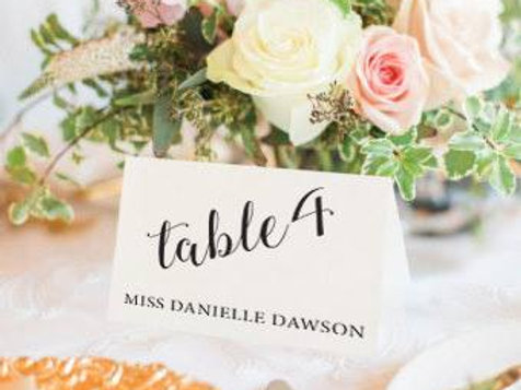 Wedding Name Cards - Creased and folded