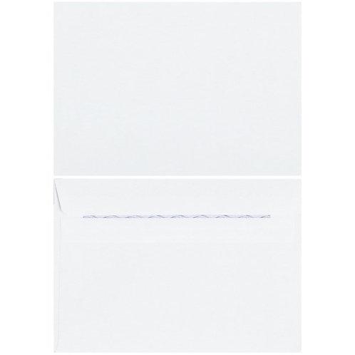 Plain white C6 envelops