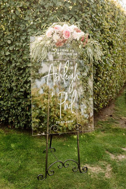 A1 Transparent Welcome sign