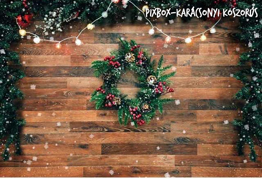 Pixbox  Karácsonyi Koszorús háttér