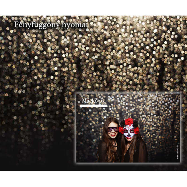 Pixbox fényfüggöny fotóautómata háttér