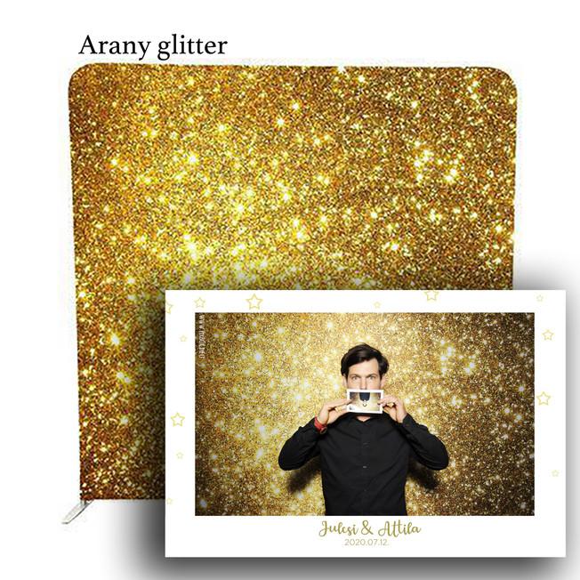 Arany glitter selfiegép háttér