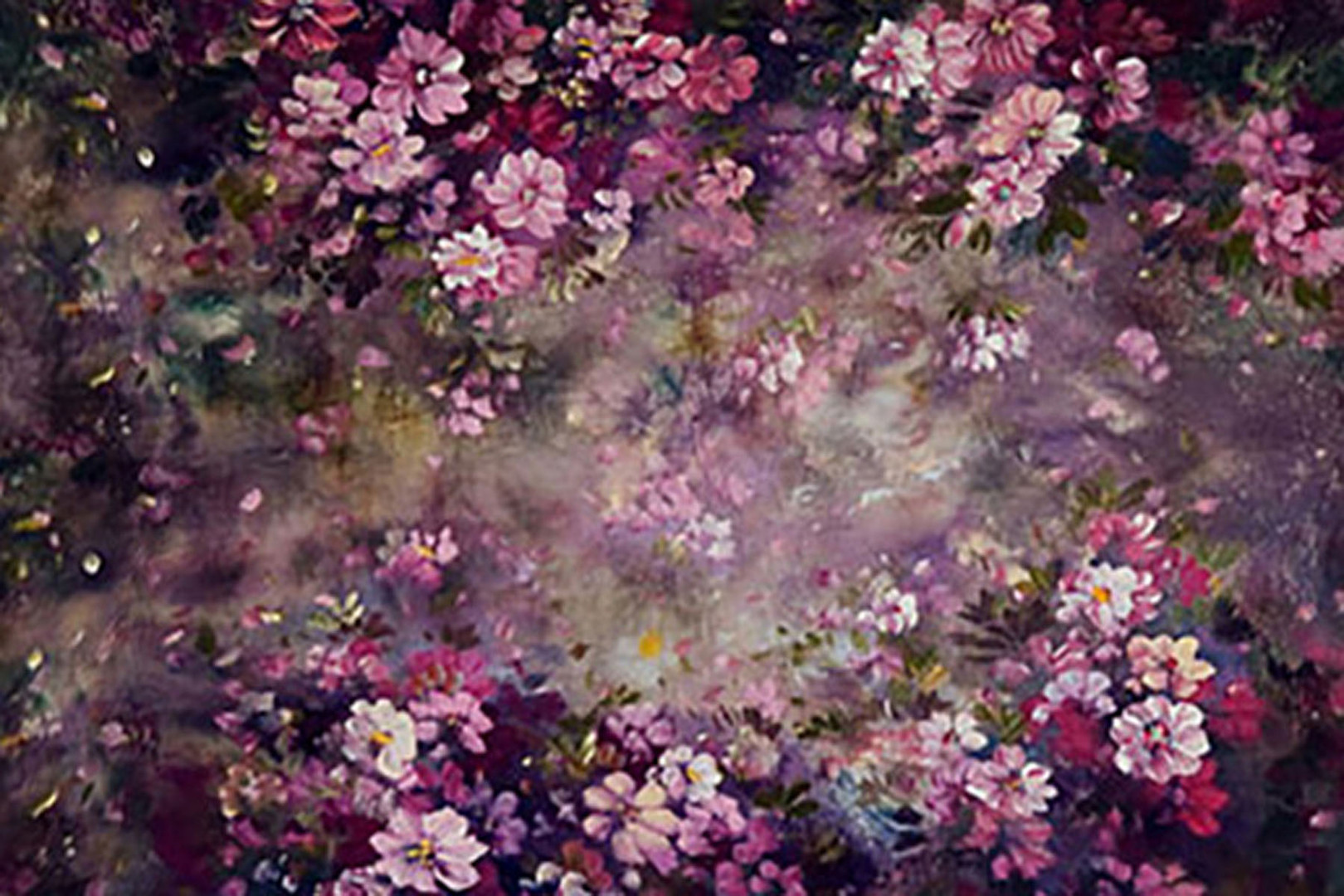 Pixbox lila virág festmény