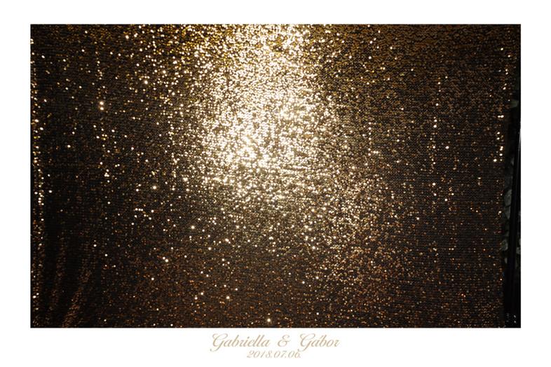 Aranyszínű Valódi flitteres anyag