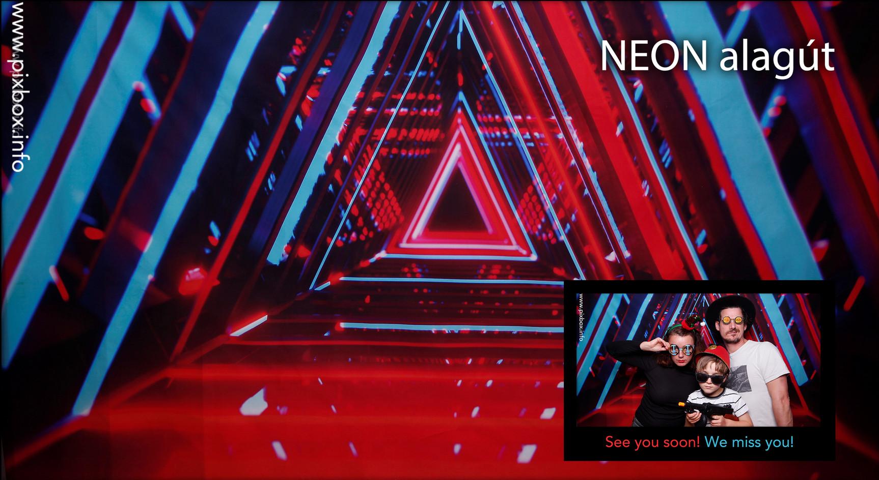 Pixbox Neon Alagút fotóautómata háttér