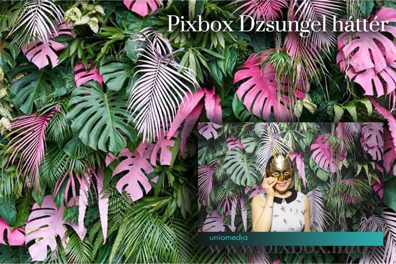 Dzsungel selfiebox háttér
