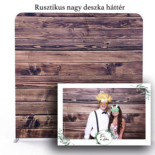 Rusztikus fa deszka fotobox háttér