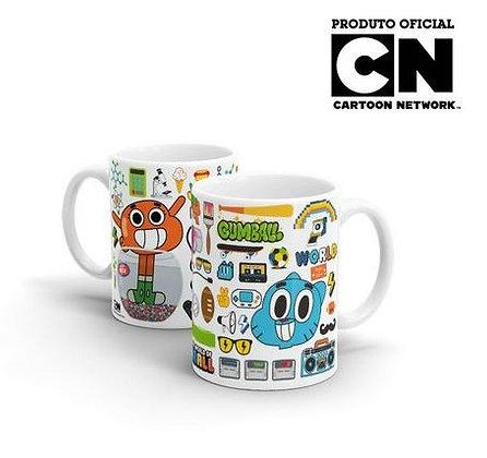 Caneca Cartoon Network O incrível Mundo de Gumball Elementos